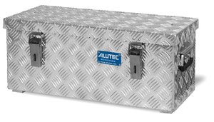 Aluminium-Transportkiste aus Riffelblech, 37 Liter